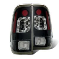 Cg Ford F-150 F150 1997-2003 Led Tail Lights Lamps Black Pair on sale