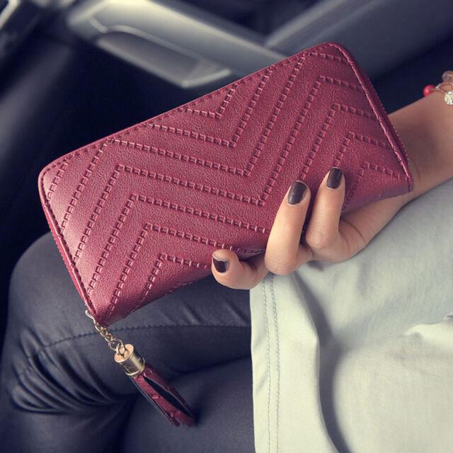 New Fashion Women Leather Card Holder Wallet Clutch Purse Lady Long Handbag
