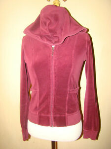 7f0052d1cf3b Image is loading JUICY-COUTURE-DARK-RED-WINE-VELVET-VELOR-TRACKSUIT-