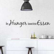 Wandtattoo /'Es wird gegessen was auf/'n Tisch kommt/' 25 Farben Wandsticker Küche