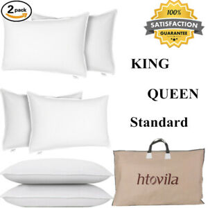 2-Pack-Goose-Down-Feather-Bed-Pillows-Cotton-White-Luxury-Standard-Hotel-US-B9U5