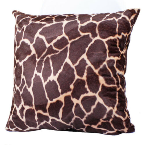 Soft Animal Print Zebra Leopard Polyester Deco Throw Pillow Case Cushion Cover