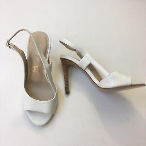327f3a5d457 Autograph  Wider Fit  White Open Toe Slingback Stiletto Heels