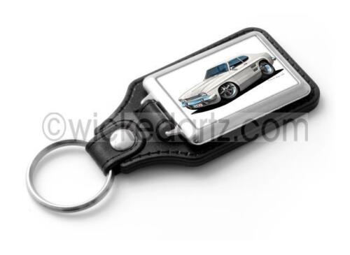 WickedKarz Cartoon Car Ford Capri MK1 in White Stylish Key Ring