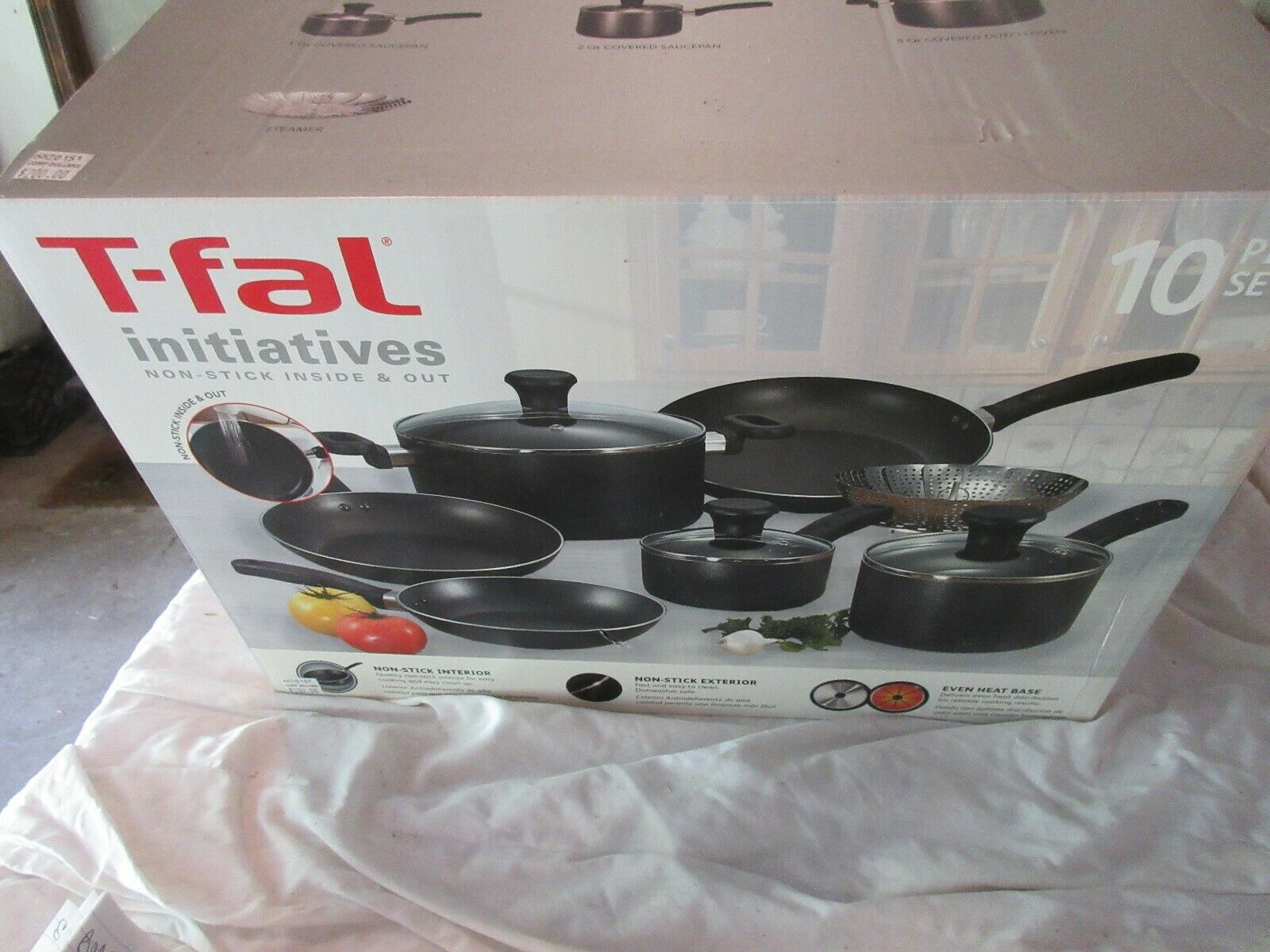 T-Fal Initatives , Pots & Pans , 10 Piece Set