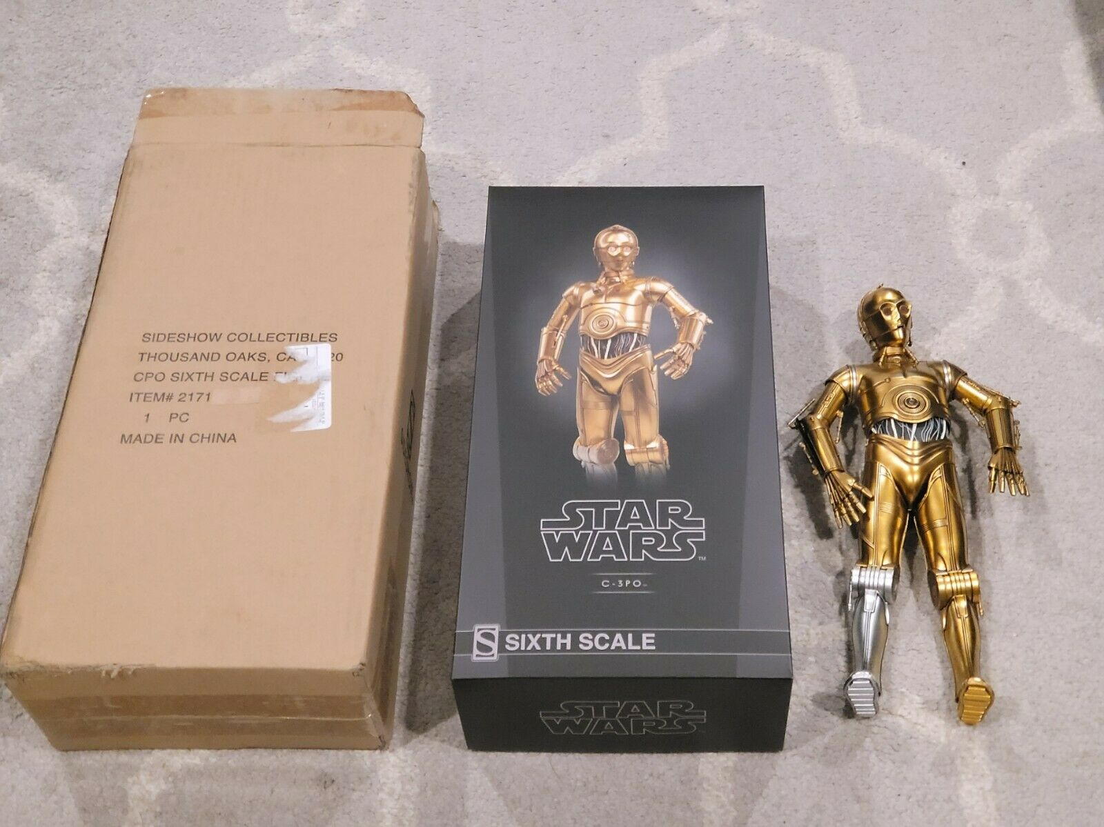 Sideshow Collectibles Star Wars C-3PO 1/6 Scale Figure in Great Shape! Lights Up on eBay thumbnail