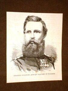 Federico-Guglielmo-nel-1875-Principe-imperiale-di-Germania