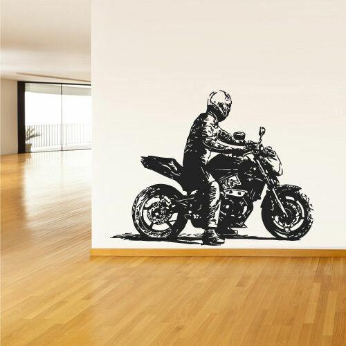 Z2388 Wall Decals Vinyl Sticker Moto Bike Rider Motorcycle Gp Sport
