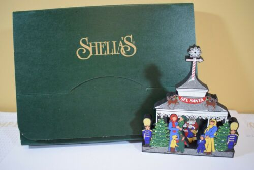 S5919 SHELIA/'S 2003 VISIT WITH SANTA  Shelf Sitter TSN32  NIB