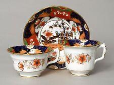 INTERESSANTE antico NUOVO Hall (?) Porcellana di Imari Giappone TRIO TAZZA PIATTINO Tè ecc.