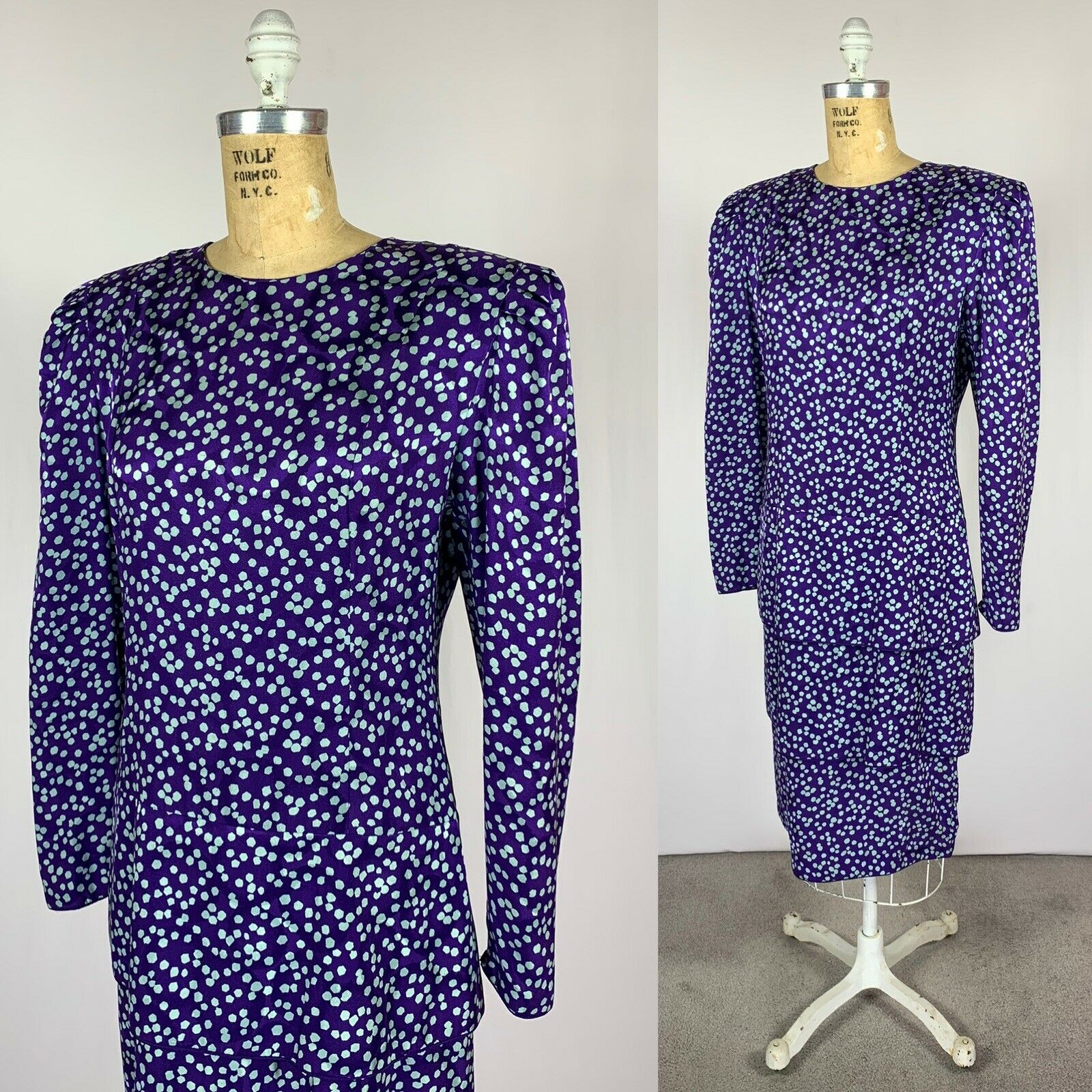 Vintage Maggy London Jeannene Booher Jacquard Sil… - image 4