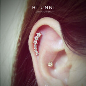 Image Is Loading 16g Flower Helix Earrings Conch Ear Studs