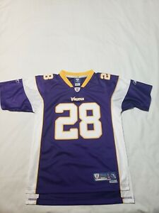 Reebok On Field Adrian Peterson #28 Minnesota Vikings NFL Football ...