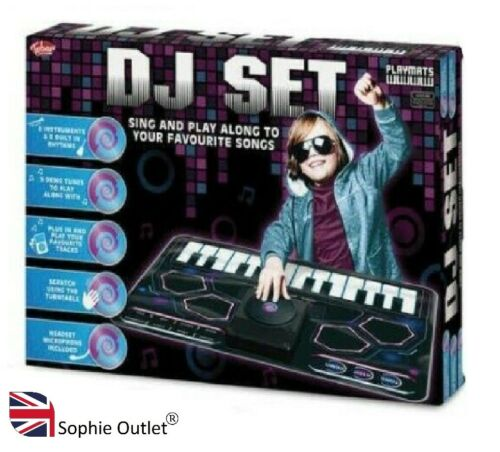 Kids DJ Play Set Octapad Drum Kit Drumm Set All in One Musical Instrument UK