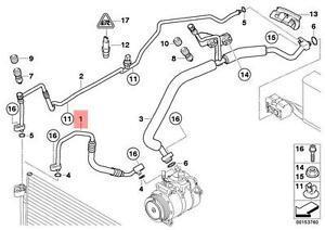 Details about Genuine BMW E60 E60N E61 E61N Refrigerant Discharge Hose Line  OEM 64536920356