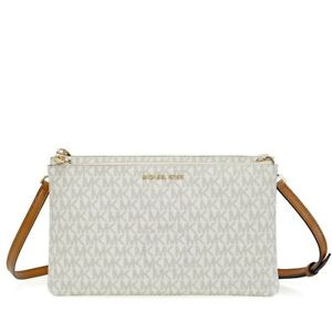 e53b83c33eb9 Image is loading NEW-MICHAEL-KORS-ADELE-VANILLA-WHITE-PVC-GOLD-