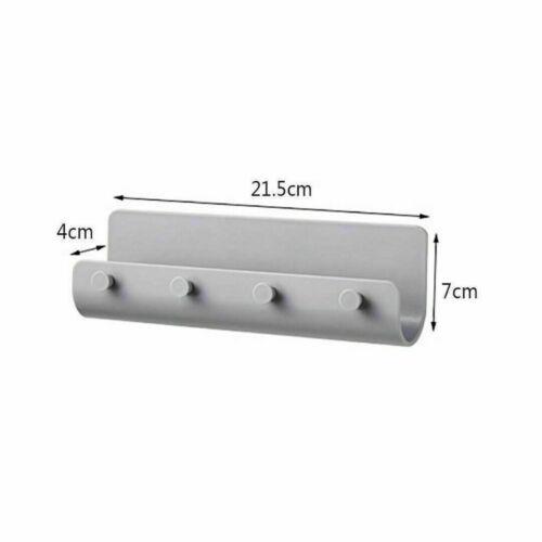 Key Rack Holder Wall Mount Key Organizer 4 Hook Keychain Hanger Home Storage Kit