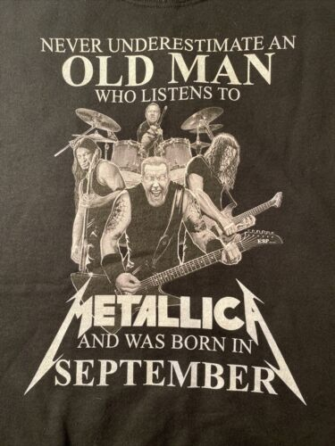 Metallica NEVER UNDERESTIMATE A MAN WHO LISTENS TO