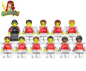 timeless design b9209 8a9d2 Details about LEGO Arsenal Soccer Football Team 11 Players 18-19 Jersey  Custom Minifigure