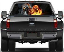 Fire Rider Rear Window Graphic Decal Truck SUV Vans