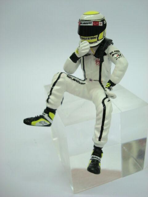 1 18 cifra REF 57E JANSON BUTTON F1 BRAWN WORLD CHAMPINS FIGURINO PILOTA DRIVER