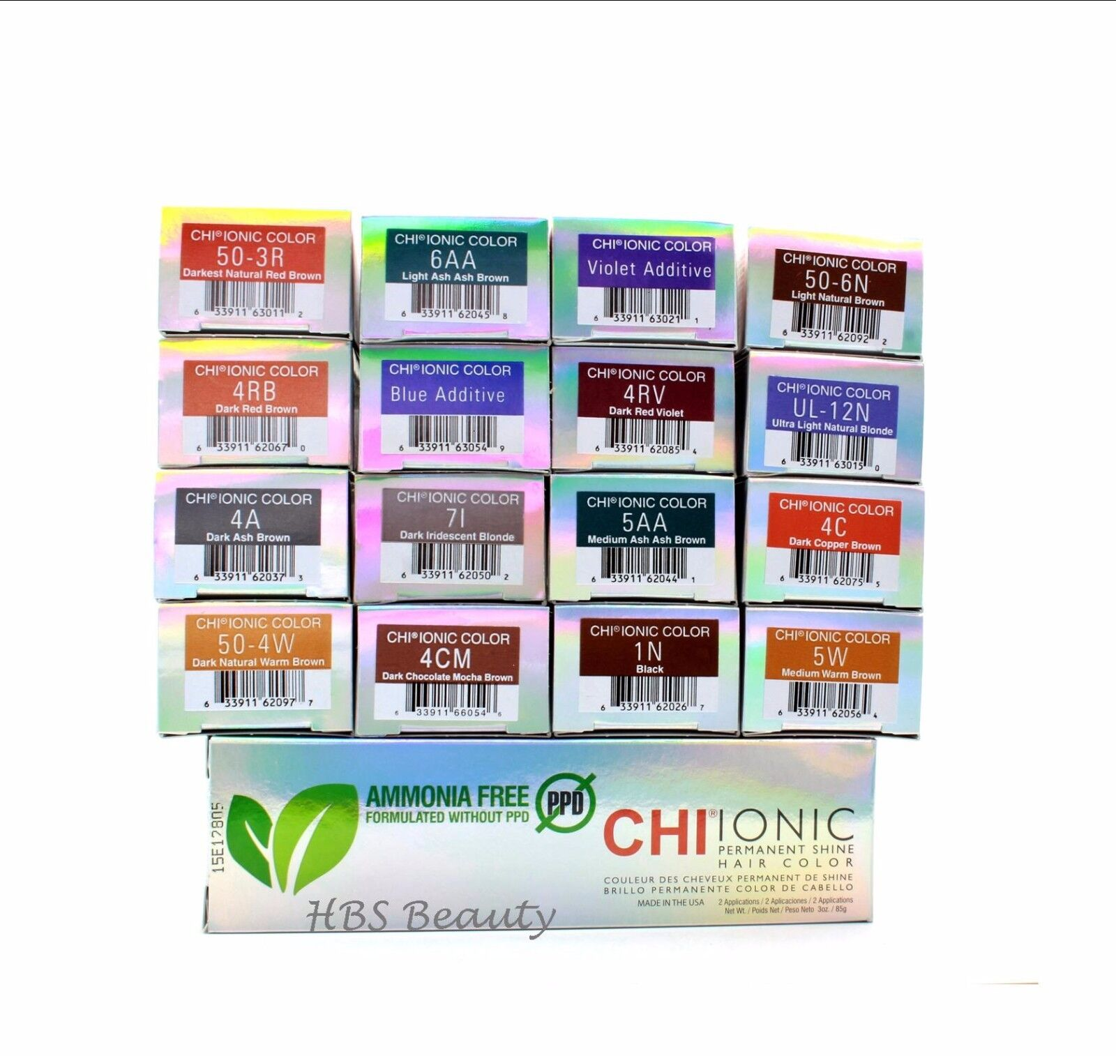Chi Ionic Permanent Hair Color 50 6n Light Natural Brown 3oz Ebay