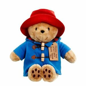 Classic Cuddly Paddington Bear Bean Plush Sot Toy - Look After this bear 12""
