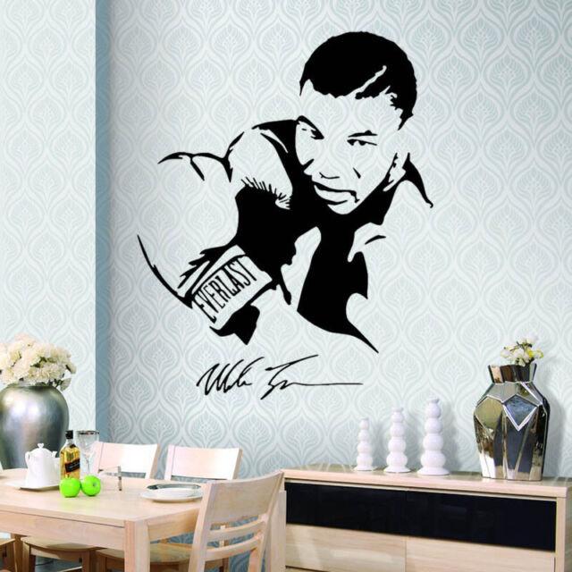 mike tyson boxer wall sticker 3d decals wallpaper mural art decor