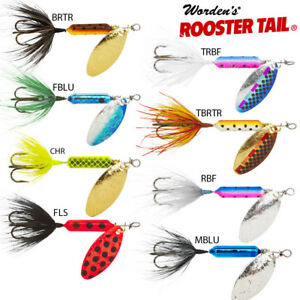 Rooster-Tail-Spinner-Wordens-Trout-amp-Salmon-3-Wts-3-5gm-7gm-No1-Lure-in-USA