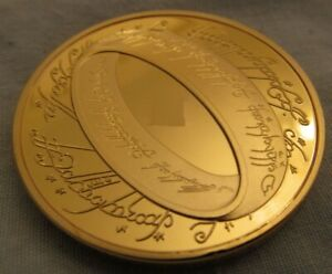 Lord-of-the-Rings-Gold-Coin-New-Zealand-Fantasy-Role-Play-Game-Medallion-Film-UK