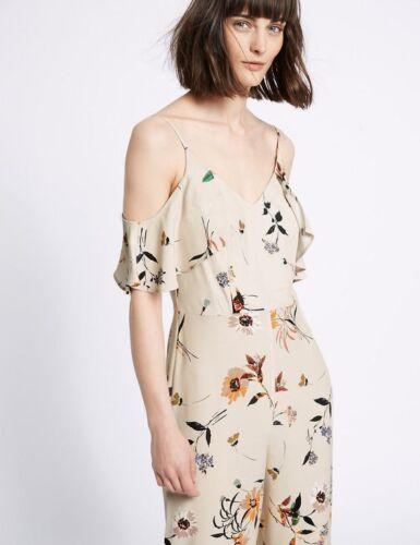 Ltd shirt floreale fredda s spalla stampa 14 a T lunghe con Uk Tuta Edition maniche crema M FpRq5q