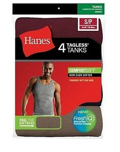 3e22a2342bf9e3 4-Pack Hanes Mens Assorted Color A-Shirt Tank Wife Beater Undershirt ...
