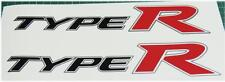 Honda Civic fn2 Tipo R Oem Rojo X 2 Panel Lateral Stickers Calcomanías K20 Serie K Jdm