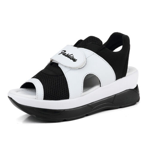 Lady/'s Open Toe Trainers Athletic Shoes Summer Mesh Sneakers Platform Sandals