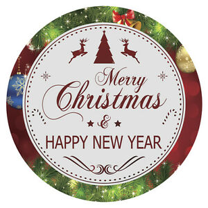 image is loading personalised merry christmas happy new year stickers bag