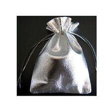 Jolie Pochette cadeau Argenté 8,5X7 cm pour bijoux Neuf