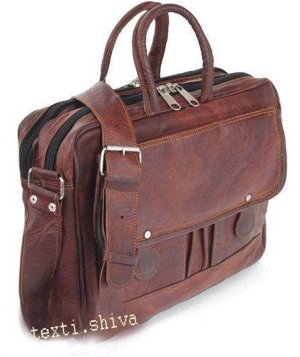 Men/'s Genuine Leather Vintage Satchel Messenger Handmade Briefcase Bag Laptop
