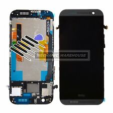 LCD Display Touch Screen Digitizer Frame Full Unit Assembly For HTC ONE M8 Grey