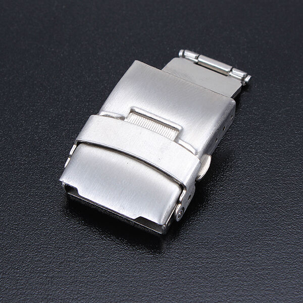 16-22mm Stainless Steel Double Press Watch Strap Band Clasp Buckle Replacement