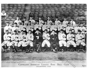 1920 CLEVELAND INDIANS WORLD SERIES CHAMPIONS TEAM 8X10 GLOSSY PHOTO