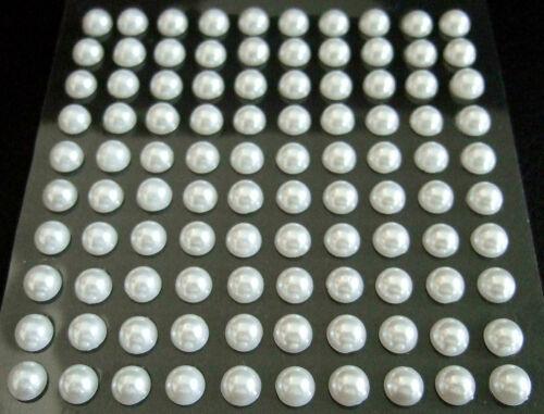 selbstklebende Halbperlen 6 mm verschiedene Farben zur Auswahl