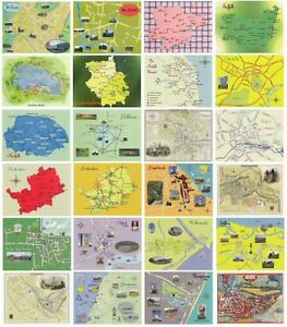 Set-of-24-Map-Postcards-of-Locations-in-the-East-of-England-East-Anglia