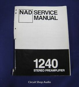 Details about Original NAD 1240 Stereo Preamplifier Service Manual