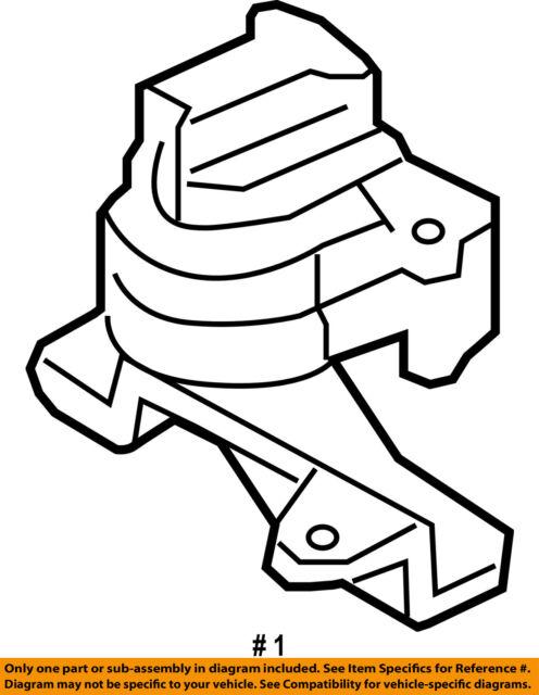 FORD OEM-Engine Motor Mount//Torque Strut 8T4Z6038A