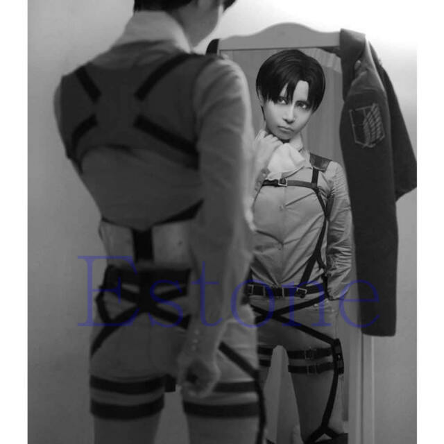 Cosplay Attack On Titan Shingeki no Kyojin Belt Straps Harness Anime Costume