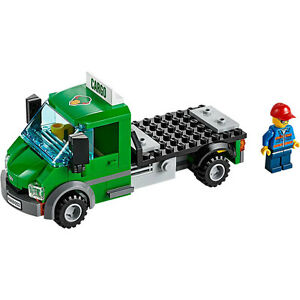 image is loading lego train city cargo freight green lorry truck - Camion Lego