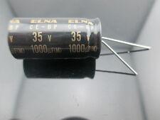2pcs Elna Capacitors RBD 1000uf 35V Audio Series Bi Polar Capacitors