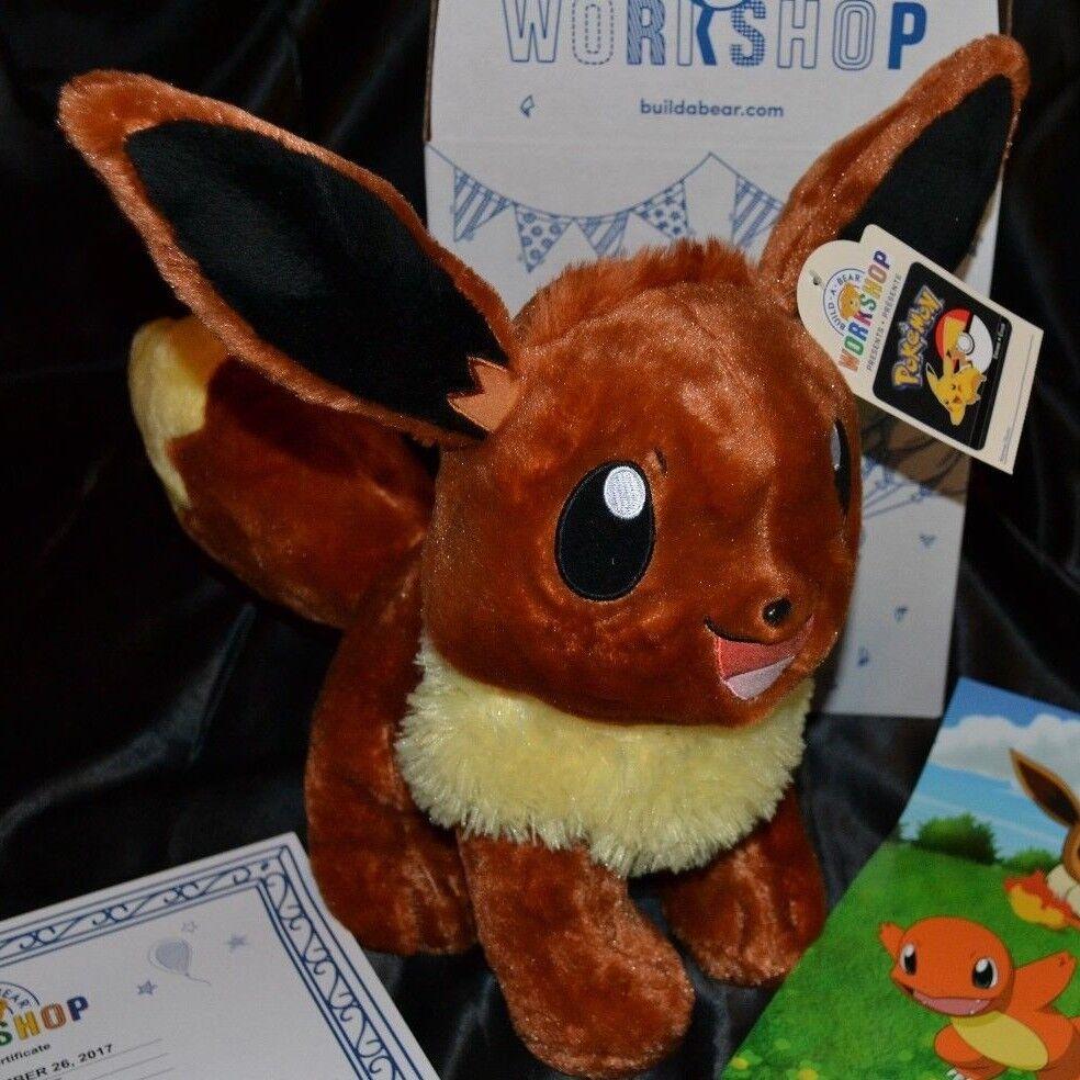 Eevee Talking Bygg -A -Bear Plush leksaker Dolls Stuff djurs Pokey Tal NEW