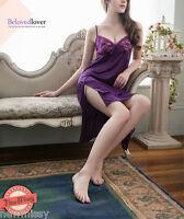 Sexy Purple Nightie Chemise Ladies Nightwear Lingerie Nightdress Sleepwear Dress