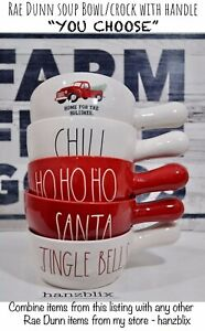 Rae-Dunn-Bowl-CHILI-HOHOHO-SANTA-Red-Truck-Christmas-Handle-034-YOU-CHOOSE-034-NEW-039-19